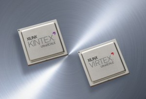 Array of Kintex Ultrascale and Virtex Ultrascale FPGA devices