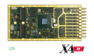 Eight 125MSPS 16 bit Adcs, Xilinx Artix-7 FPGA, DDR3 memory and 4 lanes Gen2 PCIe for Beamforming